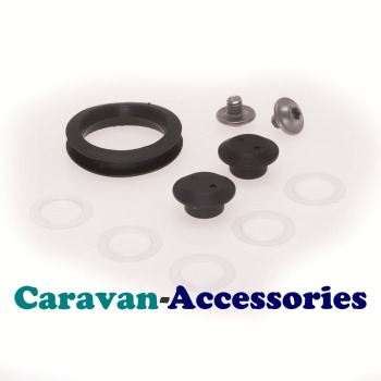 Dometic CRAMER Spare Glass Lid Fixing Kit Nuts / Bolts / Washers / Ring Pull (407 14 42-72)