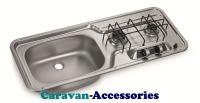 Dometic HS 2320L 2-Burner Hob/Sink Combination 9103301739