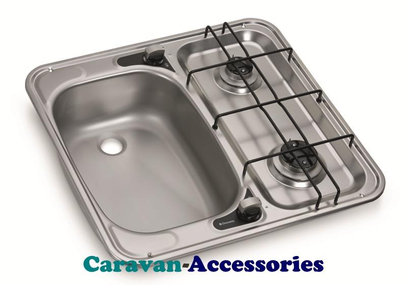 HS 2460L Dometic 2-Burner Hob/Sink Combination