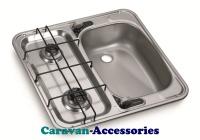 Dometic HS 2460R 2-Burner Hob/Sink Combination 9103301752