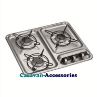 Dometic HB 3400 3-Burner Hob 9103301753