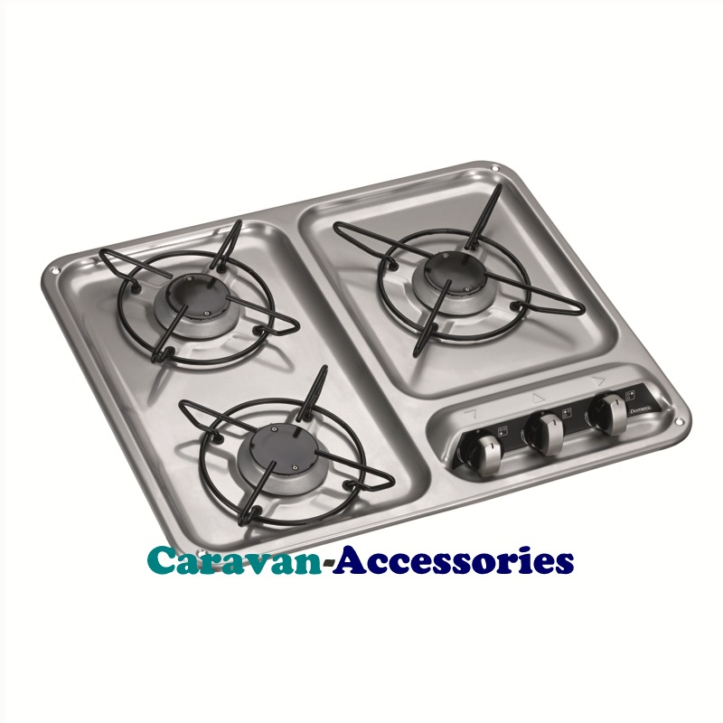 Dometic HB 3400 3-Burner Hob with Glass Lid 9103301753