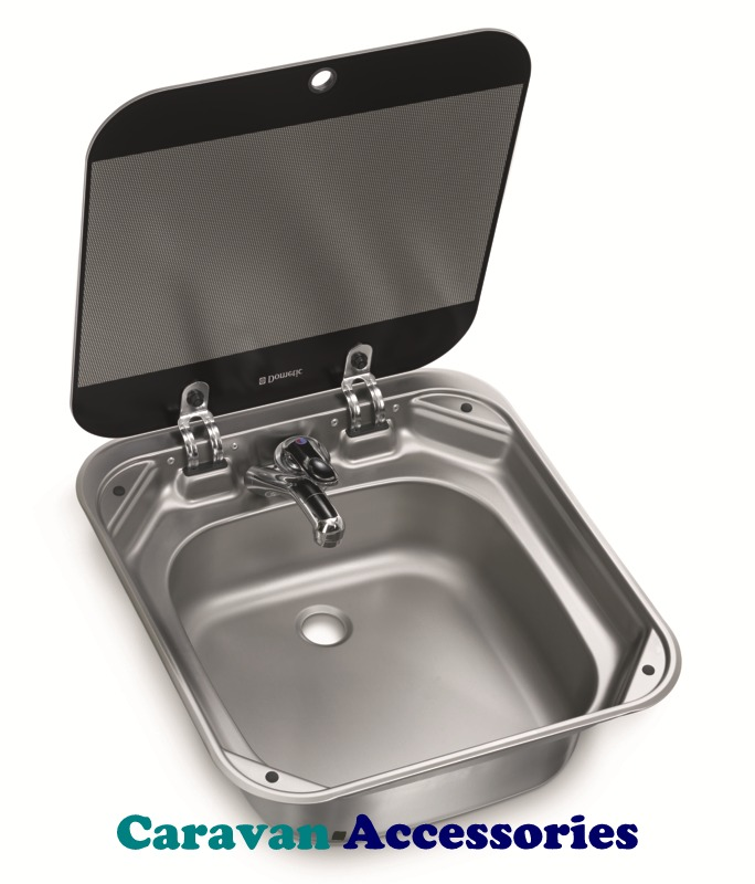 Dometic SNG 4244 Sink Unit with Glass Lid (Tap NOT Included)