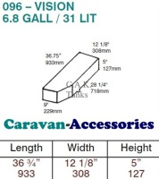 CAK-096W Waste Water Tanks for Volkswagen T4 - 31 Litres - D.I.Y. installation kit for VW camper conversions