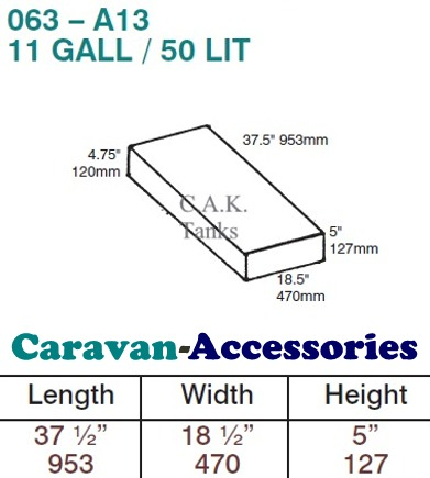 CAK-063F Fresh Water Tank for Volkswagen Type 2 Bay & Split - 50 Litres - D.I.Y. installation kit for VW camper conversions