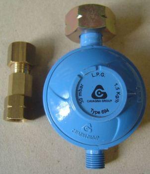GT2REG8 Regulator for Under-slung Gas Tanks 30mbar
