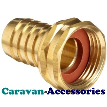 """BRF3812 Brass Threaded to Barbed Straight Water Fitting (3/8"""" BSP Female to 1/2"""" (12mm) Barb)"""