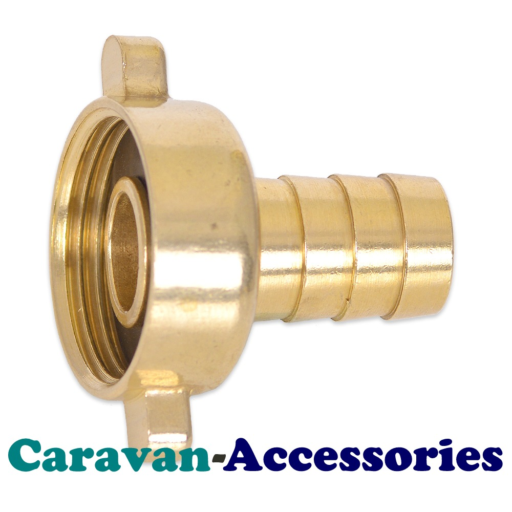 "BRF5012 Brass Threaded to Barbed Straight Water Fitting (1/2"" BSP Female to 1/2"" (12mm) Barb)"