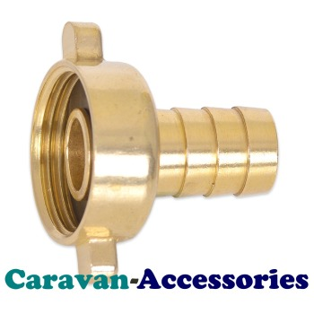 """BRF5012 Brass Threaded to Barbed Straight Water Fitting (1/2"""" BSP Female to 1/2"""" (12mm) Barb)"""