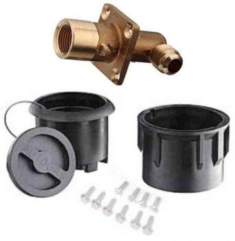 Gas-It LPG Filler Angled In Body Black Version (GTFILLBXK+GT623)