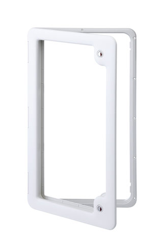 Thetford Service Door 4 Ideal for Gas or Water Tanks (LIGHT GREY) TLTD4LG