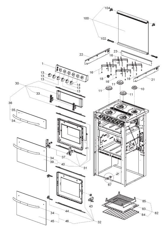 SMEV Cooker, Grill & Oven Spares - Caravan-Accessories Shop
