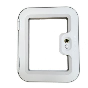 Thetford Service Door 2 LIGHT GREY for cassette access door (C200, C2, C3, C4 Toliets) TLTD2LG