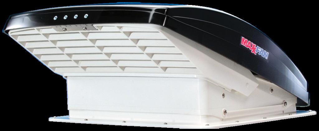 LVS7500K MaxxFan Deluxe Hooded Fan Roof Vent Smoke Version