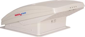 LVS7000K140 MaxxFan Deluxe Hooded Fan Roof Vent White Version