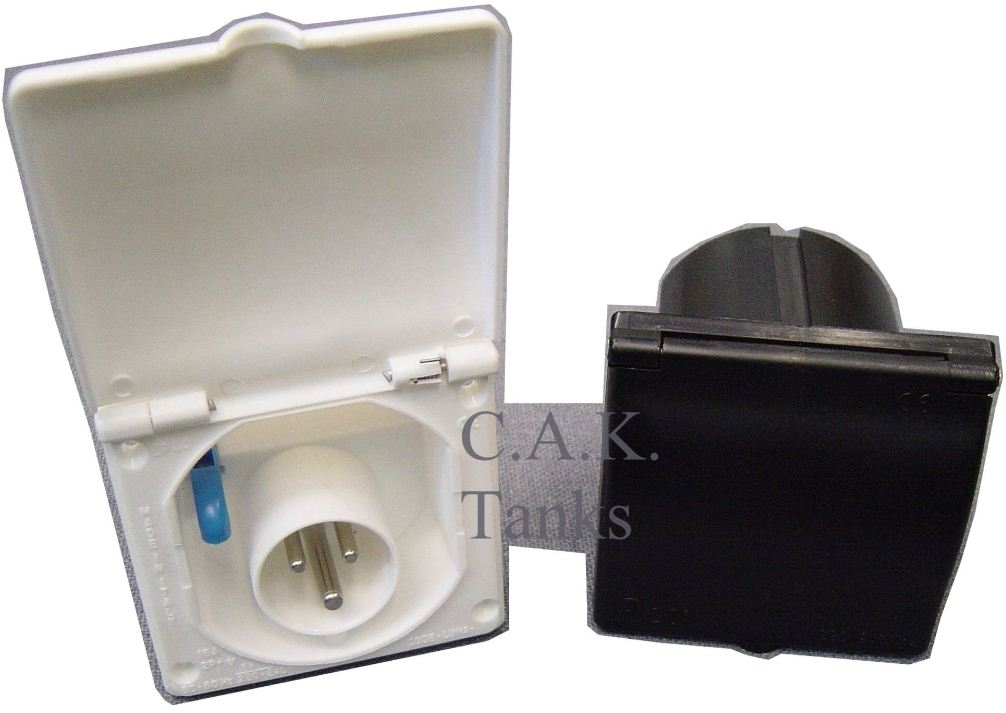 MIF31 Square Mains Inlet Socket with Flap Down Cover Matches Water Filler (