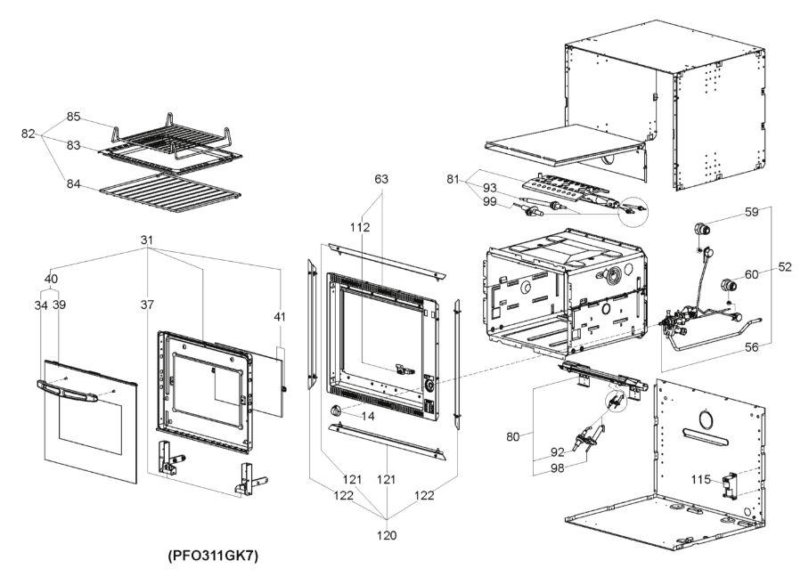 FO300 30 Litre Oven (Bottom Hinge) (9102301784)