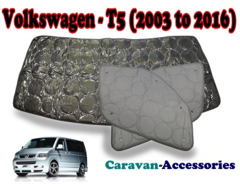 BX131 Volkswagen T5 Transporter (2003 - 2016) 9 Layer Internal Silver Thermal Screen