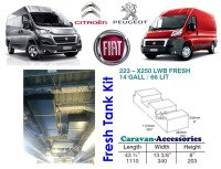 CAK-223F Ducato, Boxer, Relay X250/290 Fresh Water Tank - 66 Litres - D.I.Y. Installation Kit Van to Campervan