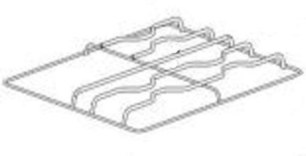 (004) THETFORD Spinflo Spare Aspire 1 Pan Support 3 Burner 1 Hotplate Black Enamelled (SSPA0962)