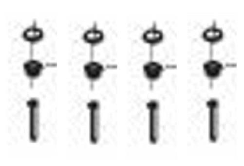 (123) SMEV Spare PI7223 Hob Unit Screw Fixings & Screw Covers (105 31 04-71/5)
