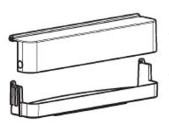 (66B) Dometic Electrolux Spare RMS8500 Series Upper Door Bin w/ Cover (289 02 35-20) (old Code: 241 39 38-00)