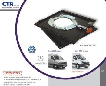 SWV18CT CTA Seat Swivel for Mercedes Sprinter & Volkswagen Crafter (2005 ONWARDS)
