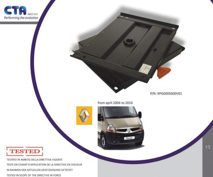 SWV10CT CTA Seat Swivel for Renault Master, Vauxhall Movano & Nissan Interstar (2004-2010)