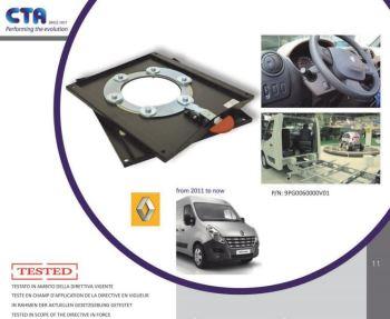 SWV24CT-EPB CTA Seat Swivel for Renault Master, Vauxhall Movano & Nissan Interstar (2010 ONWARDS) ELECTRONIC PARKING BRAKE
