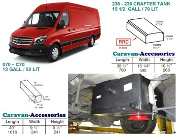 CAK-236070KIT Fresh & Waste Water Tank Kits for LWB Volkswagen Crafter & Mercedes Sprinter D.I.Y. installation van to Campervan