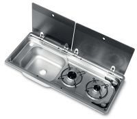 Dometic SMEV MO9722 2 Burner & Sink Combination Unit With Piezo Ignition (Left Hand Sink)