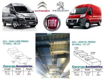 CAK-X250X290XLKIT Fresh & Waste Water Tanks For Ducato, Boxer, Relay X250/290 XLWB D.I.Y. Installation Kit Van to Campervan