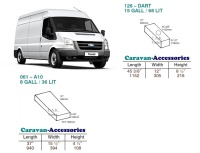 CAK-126061KIT Fresh & Waste Water Tanks For Transit LWB RWD (2001-2012) D.I.Y. Installation Kit Van to Campervan