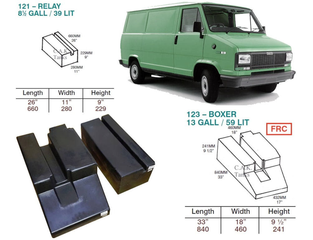 CAK-123121KIT Fresh & Waste Water Tanks For Ducato, Boxer, Relay (1994-2001) D.I.Y. Installation Kit Van to Campervan