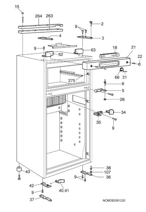 RM75XX Fridge Freezer C20 Cabinet-B