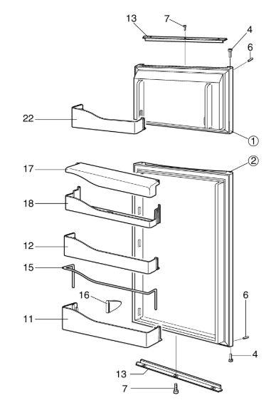 RM75XX Fridge Freezer C20 Door-A