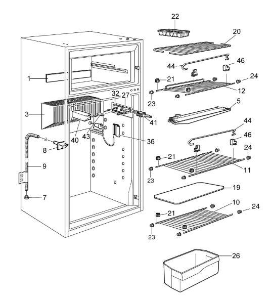 RM75XX Fridge Freezer C20 Interior-D