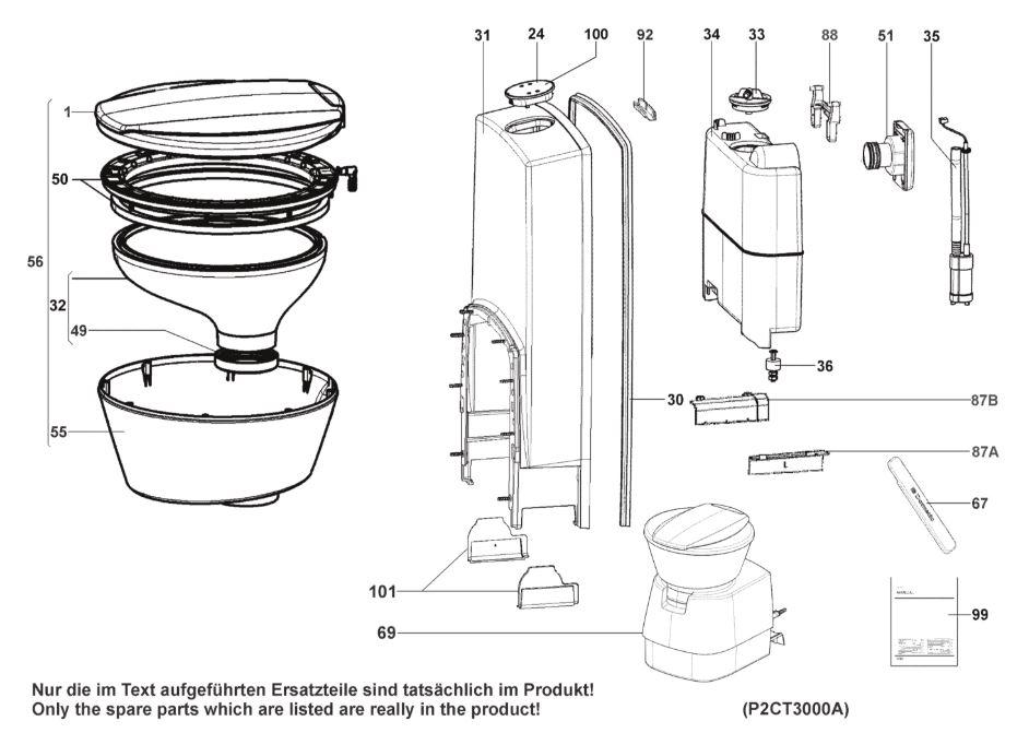 CTW4050 Cassette Toilet (Armature/Fitting)