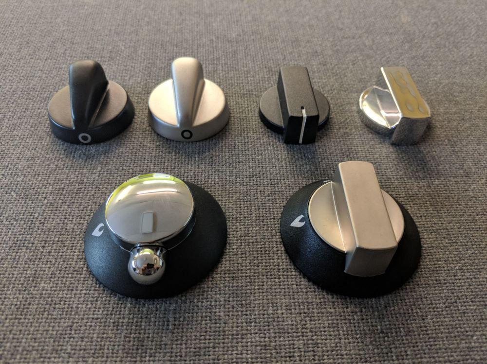Thetford Replacement Oven/Cooker Knobs Spares Kit Teardrop Knobs Set [Black