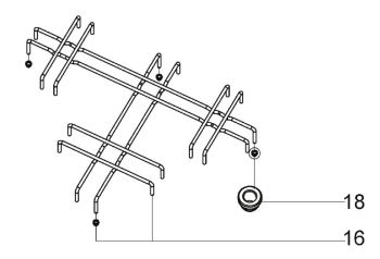 (016) Dometic SMEV Spare MO8103, MO8123 & PI8203 Pan Support Rack [Finish: Chrome] (105 31 09-99)