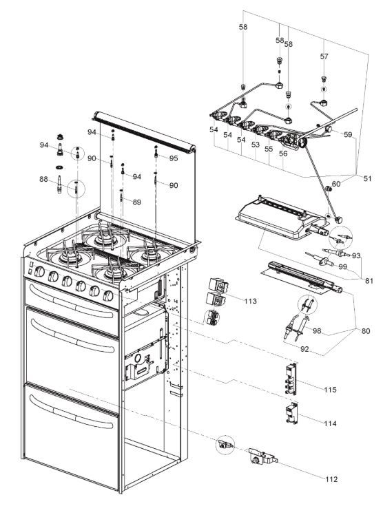 CU400 - 4 Burner Cooker Unit ARMATURE (9102301629)