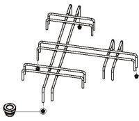 (016) SMEV Spare MO7123 Pan Support Grid For Hob Chrome Plated (105 31 02-44)
