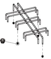 (016) Dometic SMEV Spare MO8302/8322 Pan Support Rack Steel (CHROME Plated) (105 31 18-54)