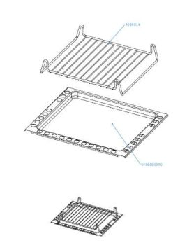 (082) Dometic SMEV Spare FO200, FO300 Series Oven VN555 Grill Roasting Tray and Grill (105 31 02-55)