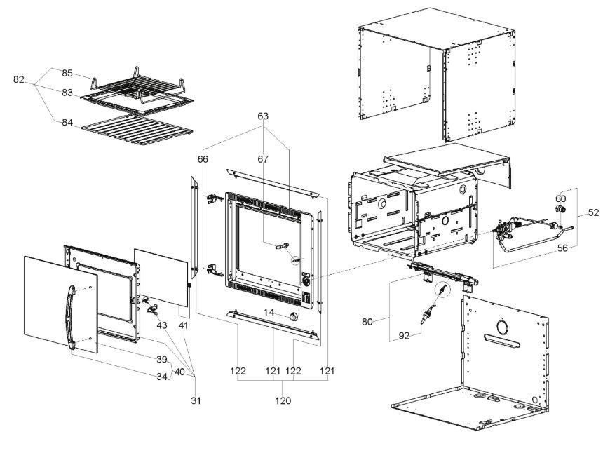 FO300 30 Litre Oven (Side Hinge) (9102301754)