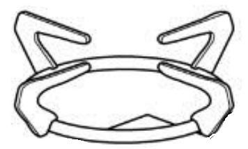(05) Thetford Spare SCU1018X Large 4 Finger Pan Support Single (1pcs) (SSPA