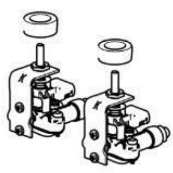 (07) Thetford Spare SCU101XX Series Set of 2 Gas Valves (2pcs) (SSPA0425)