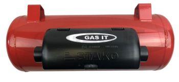 GAS IT LPG 25 Litre Gas Tank 200mm Diameter X 884mm Long [Now With Mount Feet] (Gauge Separate (GT-TANKGAUGE)) GT025-200-884MF