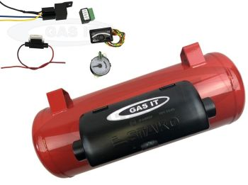 GAS IT LPG 15 Litre VW T5/6 Electric Remote Shut-Off Gas Tank 200mm Diameter X 550mm Long WITH FEET (Includes Low Voltage Adapter & Level Gauge)
