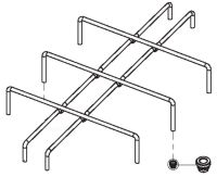 (015) Dometic SMEV Spare MO917 Pan Support Rack [Colour: Chrome] (105 31 10-20)